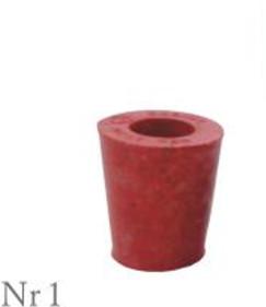 Пробка резиновая конусная №1 30х25мм