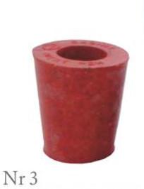 Пробка резиновая конусная №3 45х35мм