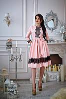 Платье клешное под пояс.Разные цвета, фото 1