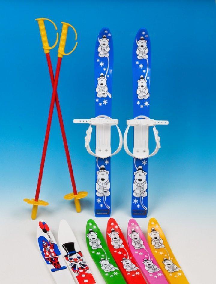 Набор лыжный детский MARMAT 70 см (лыжи +крепление+ палки) цвет синий