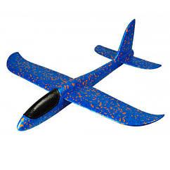 Самолет планер светящийся из пенопласта, 48 см Синий