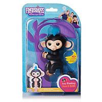 Интерактивная обезьянка Fingerlings Happy Monkey Черная