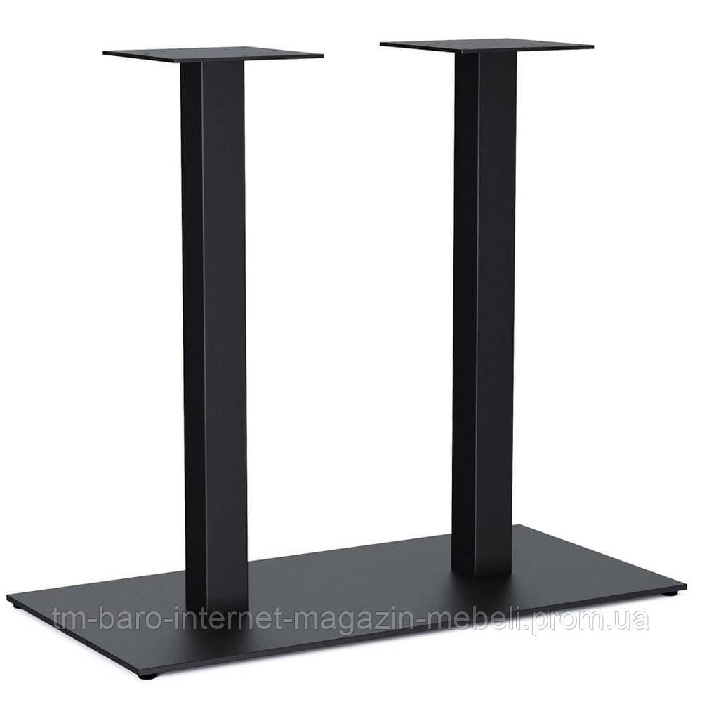 Опора для стола Quadro Double (Квадро Дабл), черный h72 см, 40х80 см (8мм)