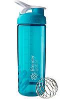 Бутылка-шейкер спортивная BlenderBottle SportMixer Sleek Promo 820ml Aqua R144904