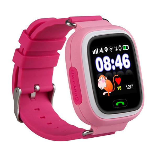 Детские часы с GPS SMART BABY WATCH 100 (Q90) Розовые