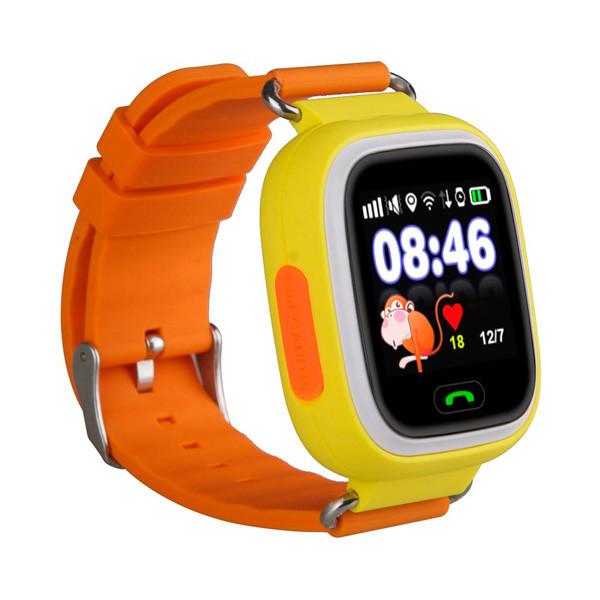 Детские часы с GPS SMART BABY WATCH 100 (Q90) Желтые