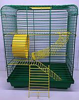 Клетка для хомячка ХОМЯК 3, 33*23*50 см