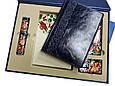 """Подарочный набор аксессуаров """"Премиум"""": ежедневник в кожаный, ручка в футляре, Xiaomi Power Bank и флеш-карта, фото 4"""