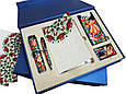"""Подарочный набор аксессуаров """"Премиум"""": ежедневник в кожаный, ручка в футляре, Xiaomi Power Bank и флеш-карта, фото 2"""