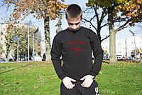 Зимний мужской свитшот, кофта на флисе, реглан, чоловічий світшот, толстовка в стиле Defend Paris.