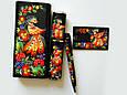 """Подарочный набор аксессуаров """"Премиум"""": ежедневник в кожаный, ручка в футляре, Xiaomi Power Bank и флеш-карта, фото 6"""