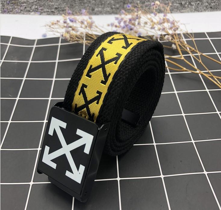 Ремень Пояс Off White X Collection Желтый 110 см