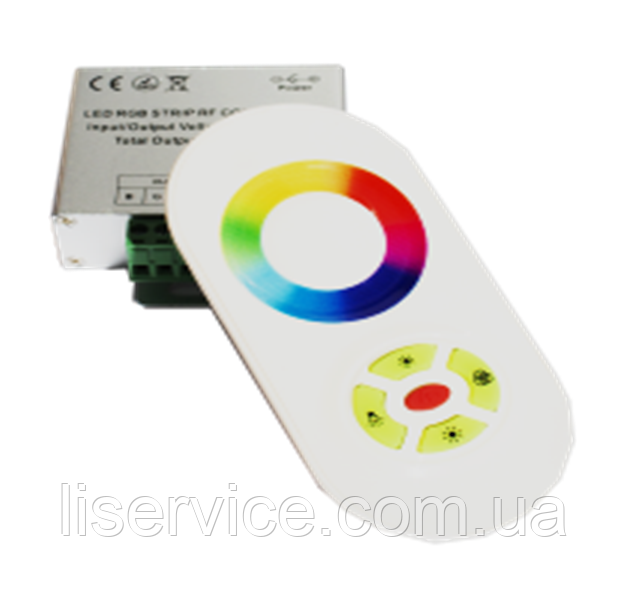 Kонтроллер с пультом для светодиодных лент RGB, 5 кнопок,  216 W, 18А