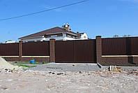 Ворота распашные ш4000, в2000 (дизайн профлист), фото 2