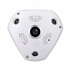 """Панорамная VR IP WiFi камера """"""""рыбий глаз"""""""" UKC 1317 IPC 1.3mp 3D Wi-Fi DVR MicroSD White"""