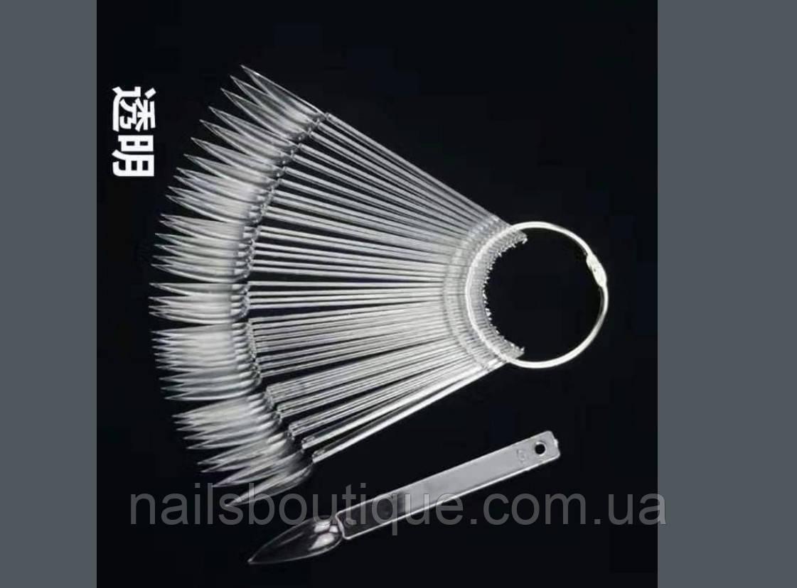 Палитра веер-стилеты на кольце, 50 шт, прозрачный