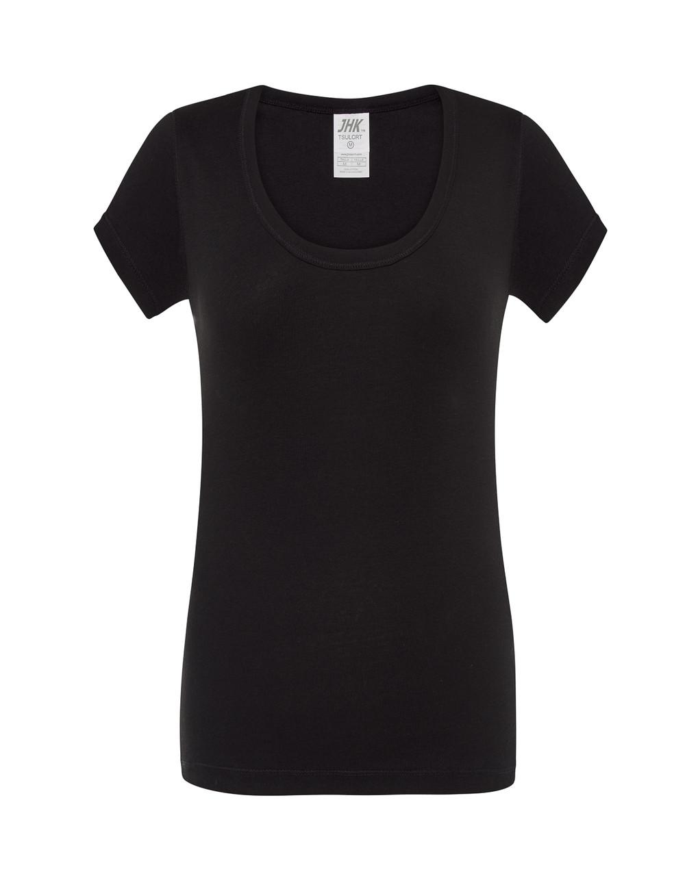 Женская футболка JHK CRETA цвет черный (BK)