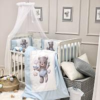 Комплект в кроватку Kids Toys Мишка голубой