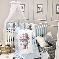 Комплект в ліжечко Kids Toys Ведмедик блакитний, фото 1