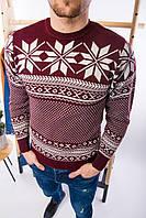 Мужской свитер новогодний бордовый H2697, фото 1