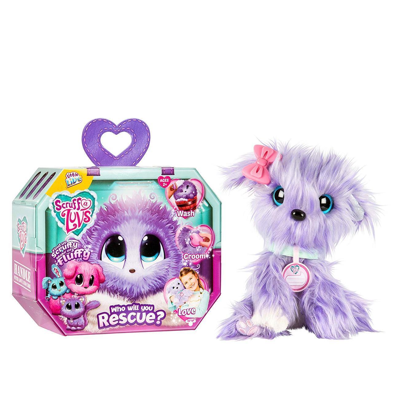УЦІНКА! Little Live Вихованець сюрприз Няшка блукаюча зурка Фіолетовий Scruff-a-Luvs plush mystery rescue pet Purple