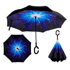Зонт обратного сложения Up-brella Звездное Небо №2