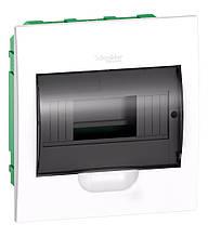 Щит розподільчий , білий, двері прозора, на 8 модулів IP40, Schneider Electric Easy9 Врізний
