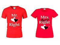 Футболка Mr&Mrs  красная, фото 1
