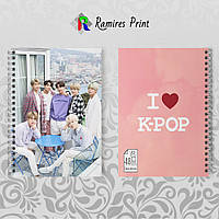 Скетчбук А5 48 л. 150 гр.м² K-Pop BTS