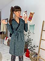 Платье из шикарного трикотажа-меланжа с люрексом, фото 1