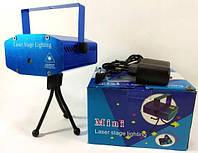 Диско лазер HJ08 v.3 лазерный проектор стробоскоп на триноге 4 в 1 laser шоу Точечный с картинками