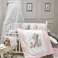 Комплект в кроватку Kids Toys Мишка розовый