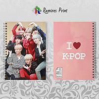 Скетчбук А5 48 л. 150 гр.м² K-Pop BTS 012