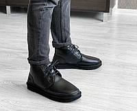 Ботинки мужские UGG Neumel Leather Black PA51 черные
