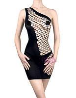 Женское платье-сетка Элисон Черный