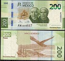 МЕКСИКА  200 песо 2019г. ЮБИЛЕЙНАЯ  UNC