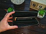 Портмоне клатч  кошелек бежевый  змея, фото 6