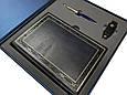 """Подарочный набор аксессуаров """"Деловой"""": ежедневник А5 кожаный, металлическая ручка и Flash-карта, фото 3"""