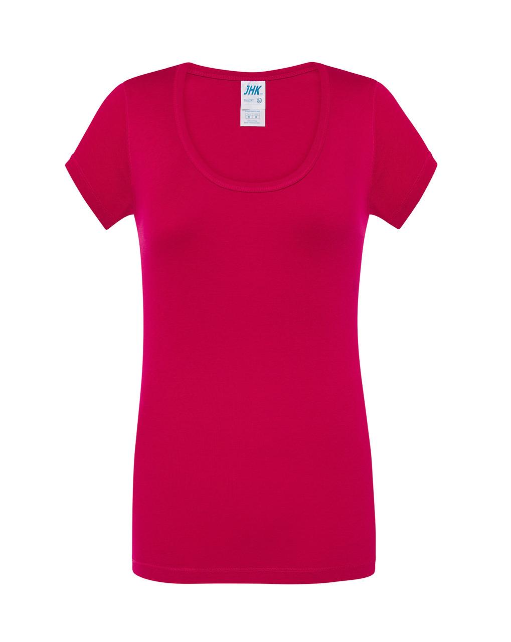 Женская футболка JHK CRETA цвет малиновый (RP)