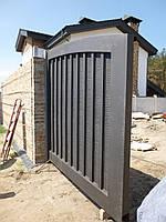 Сдвижные металлические ворота (эффект жатки) ш4100, в2000, фото 3
