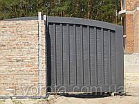 Сдвижные металлические ворота (эффект жатки) ш4100, в2000, фото 2
