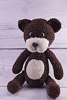 """Мягкая вязаная игрушка ручной работы Мишка """"Ромка"""" для детей 30*16 см"""