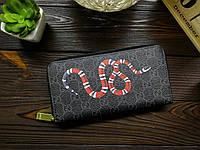 Портмоне клатч  кошелек черный  змея, фото 1