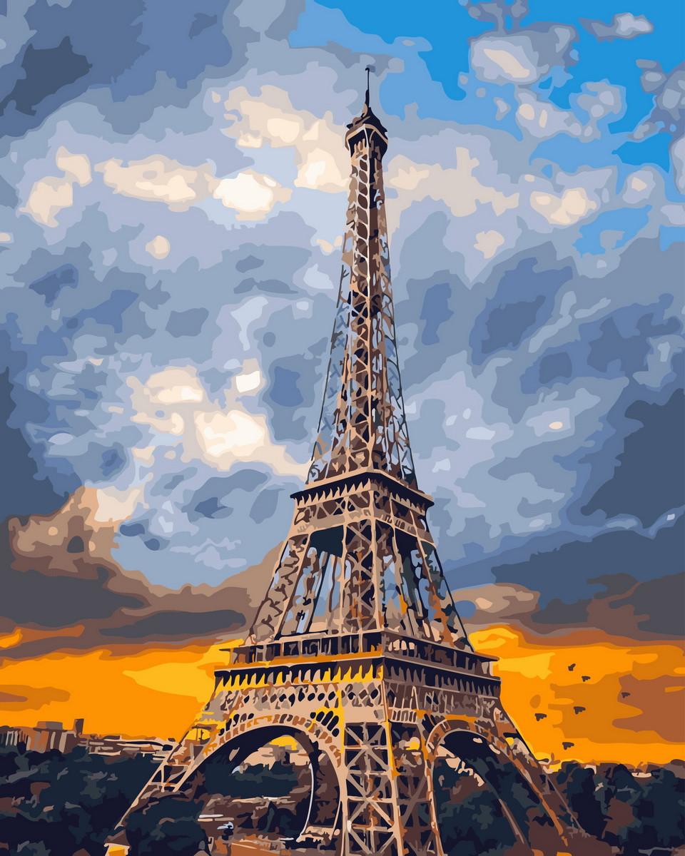 Картина по номерам Облака над Парижем (BK-GX29041) 40 х 50 см