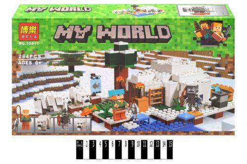 "Конструктор ""My World: Майнкрафт Домик для рыбалки"" 284 дет 10811"