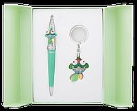 Набор подарочный Langres Goldfish ручка шариковая + брелок зелёный