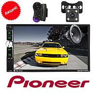 Автомагнитола 2Din Pioneer 7040CRB USB,SD, Video + ПУЛЬТ НА РУЛЬ+КАМЕРА