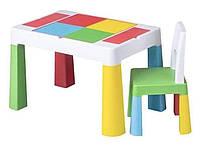 Детский столик и стульчики для кормления, творчества, игр с песком, водой, LEGO и LEGO DUPLO Tega baby mamut