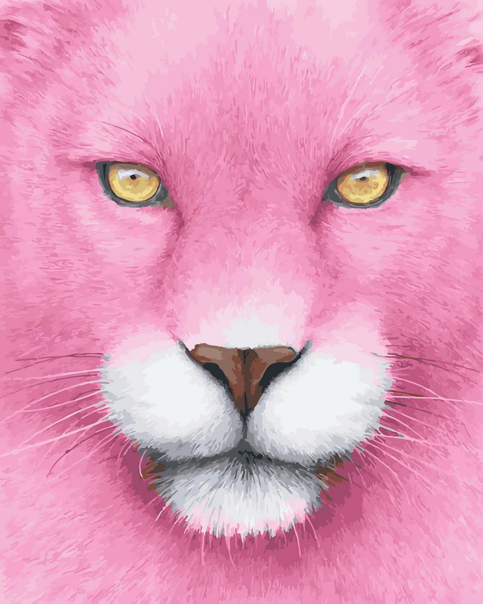 Картина по номерам Розовая пантера (BK-GX27593) 40 х 50 см