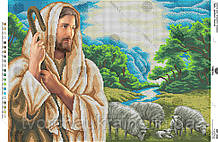 Схема для вишивання бісером Ісус - добрий пастир